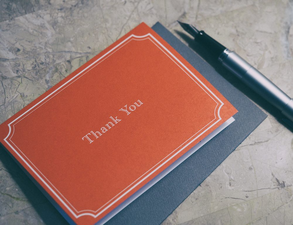 The Joy of Thank You Notes